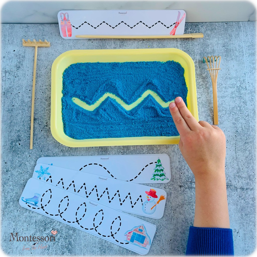 *DYED SAND DIY TRACING TRAY