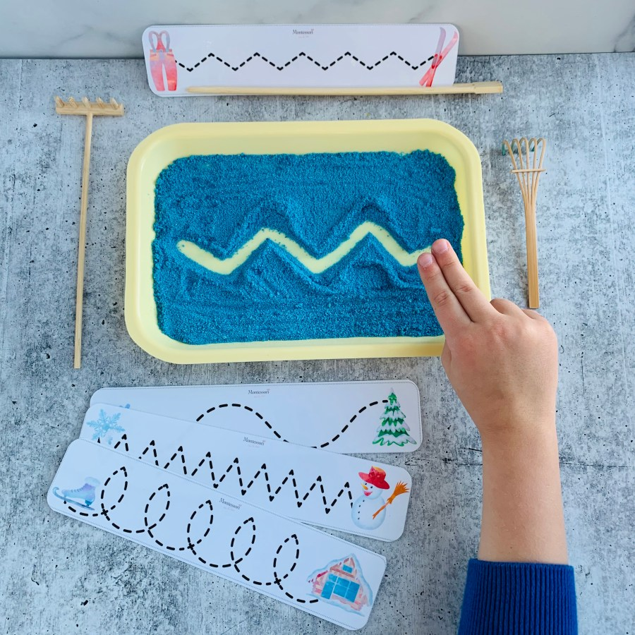 DYED SAND DIY TRACING TRAY
