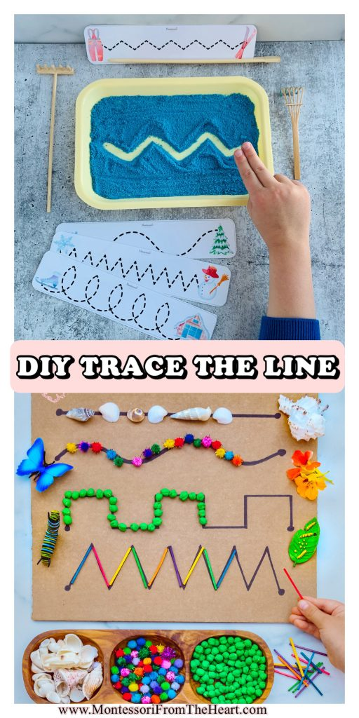 DYED SAND TRACING TRAY Hands-on Montessori prewriting activities