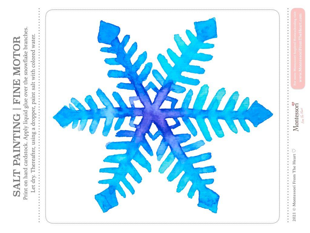 SNOWFLAKE SALT PAINTING