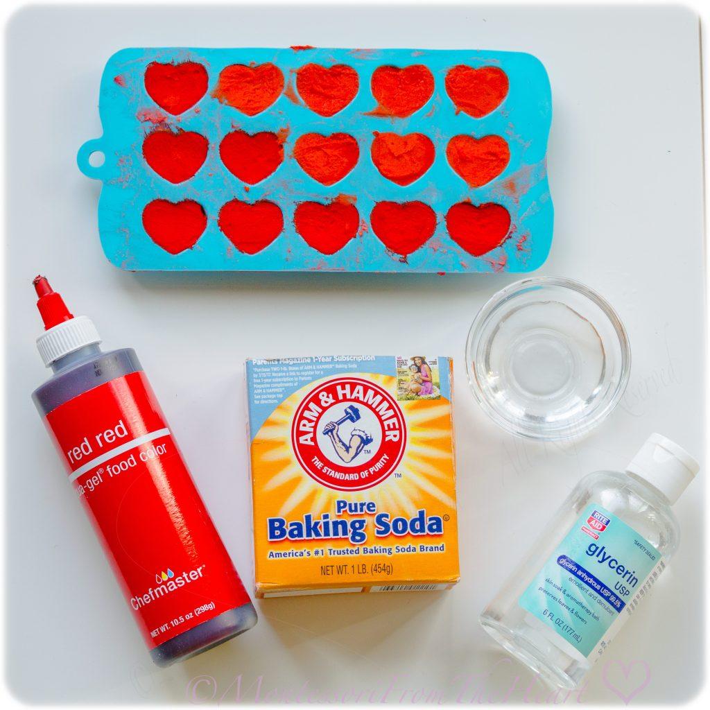 VALENTINES BAKING SODA HEARTS MOLD