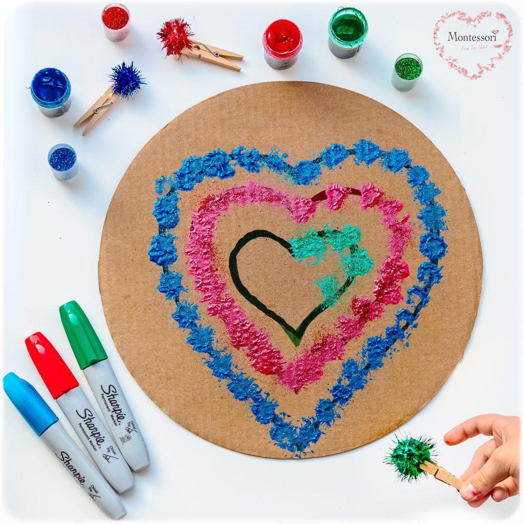 Hearts-Pom-Pom-Painting-DIY