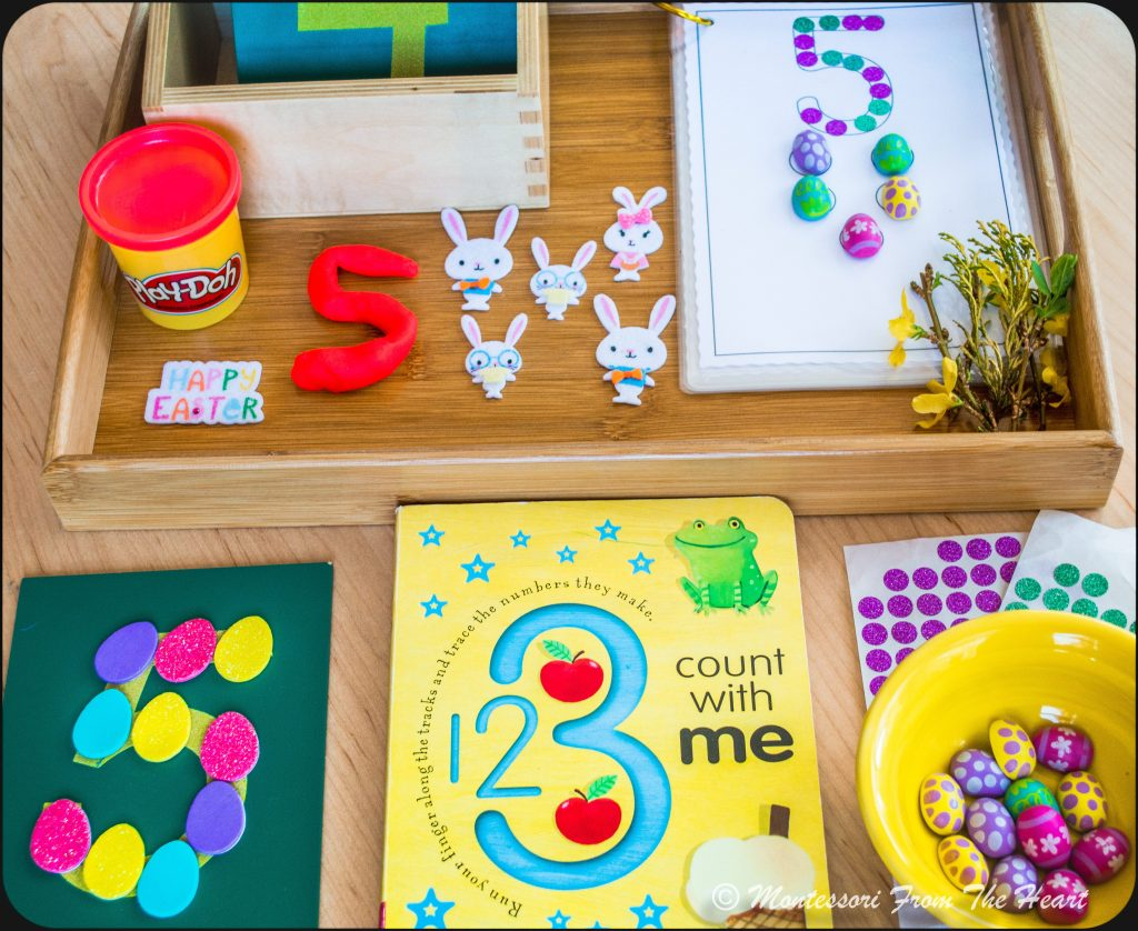 Spring Hands-On Counting Activities Play Dough number making