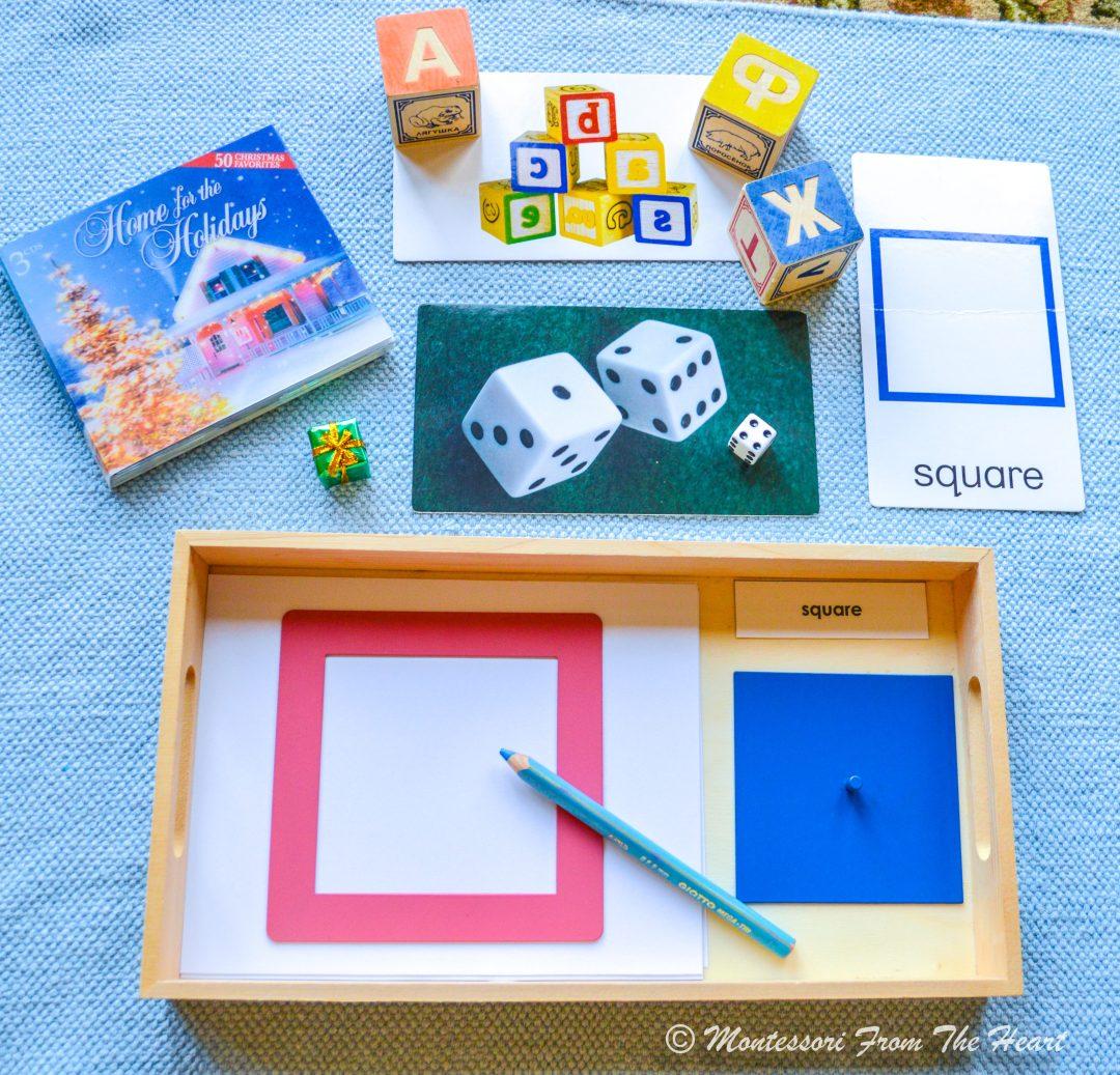 Montessori Metal Insets Montessori SQUARE SHAPE
