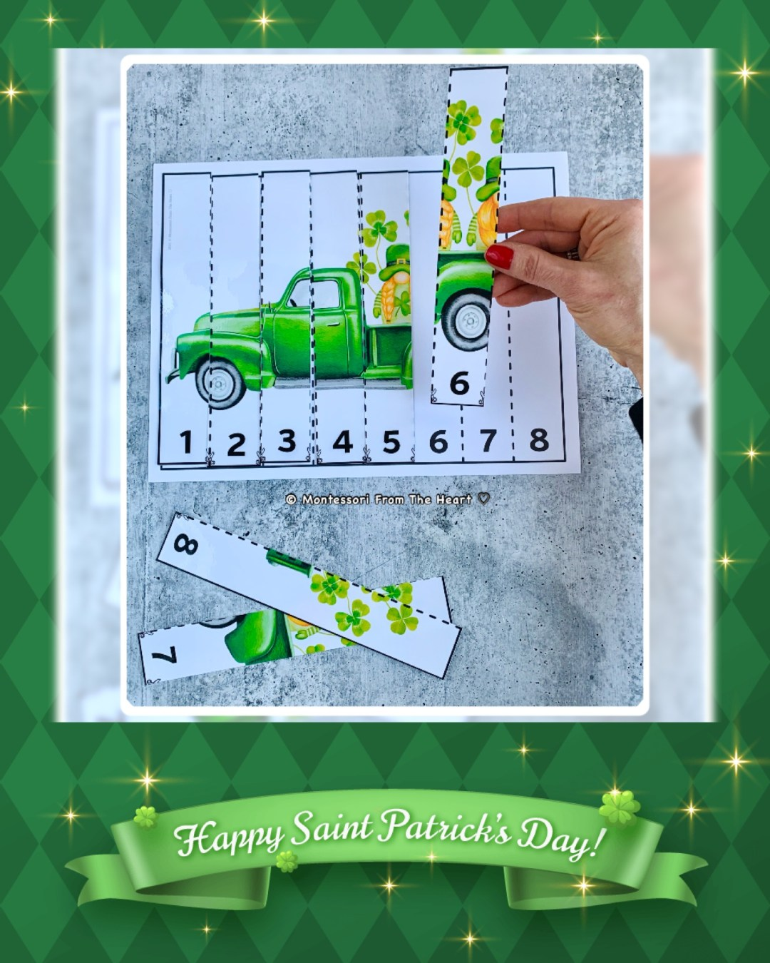 *HAPPY St. Patrick 8 STRIP PUZZLE