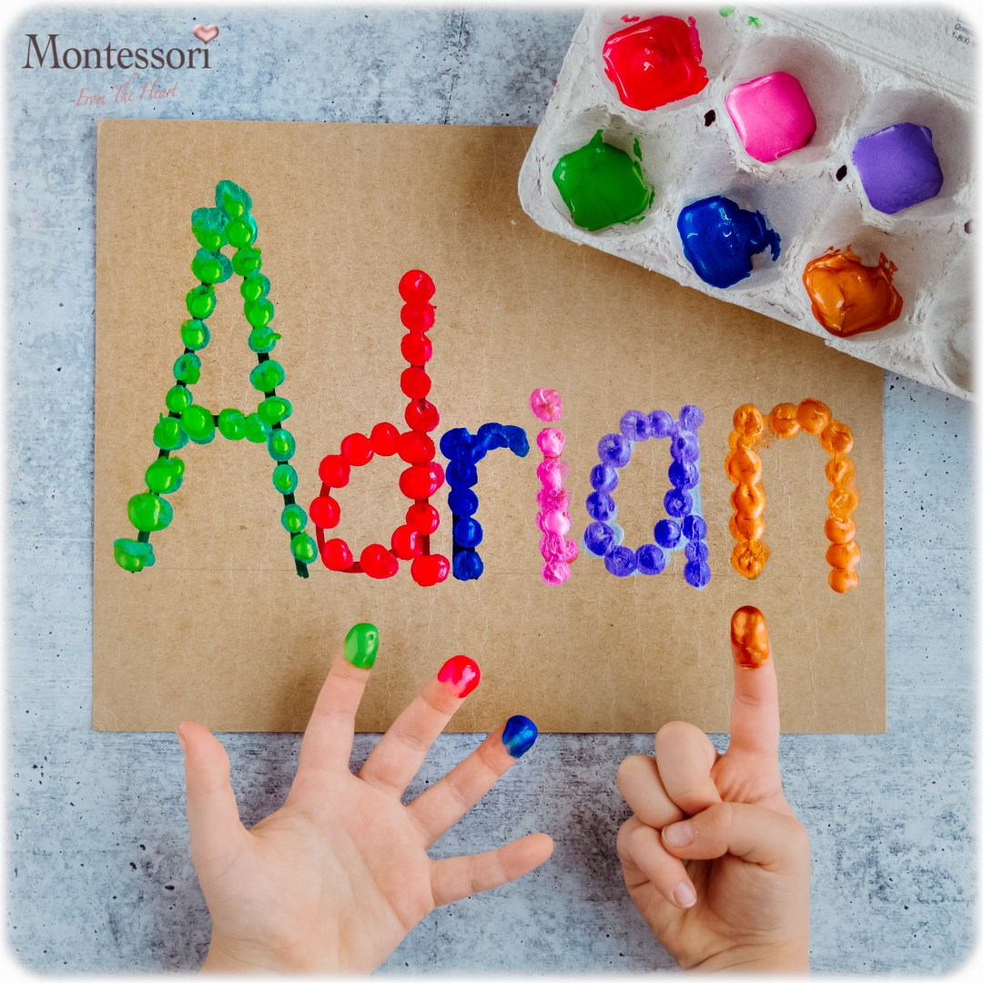 NAME-RECOGNITION- FINGER-PAINTING-KIDS ACTIVITY
