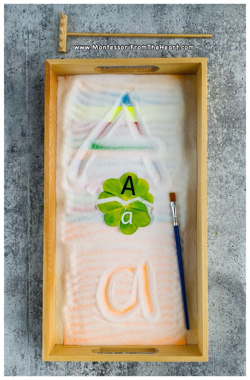 DIY Salt Rainbow-PaperMontessori Tracing Tray