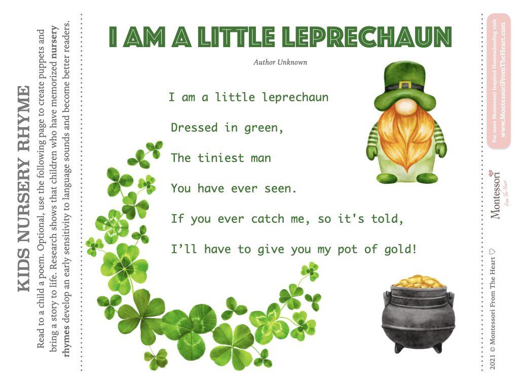 I Am A Little Leprechaun Poem