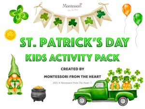 *St Patrick's Day Montessori Kids Activity Pack Montessori From The Heart