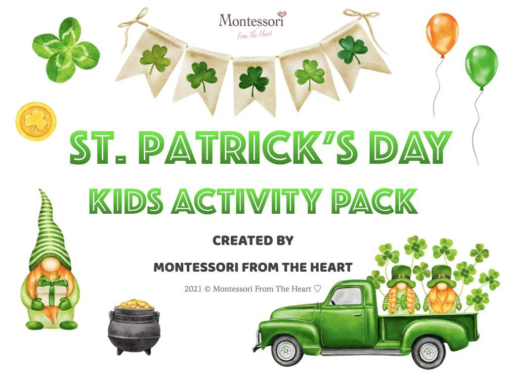 *St Patrick's Day Montessori Kids Activity Pack Montessori From The Heart