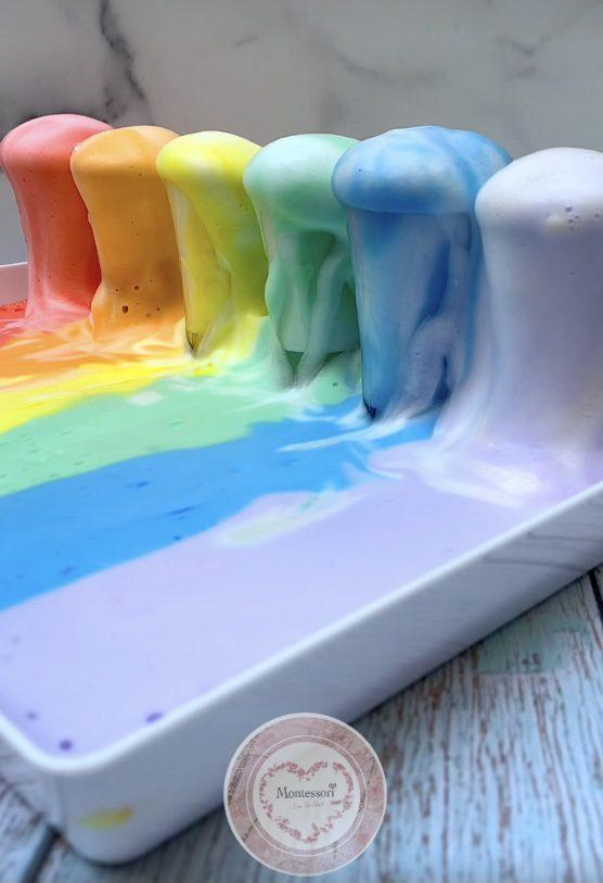 *Rainbow Elephant Toothpaste STEM Kids Montessori  Science Experiment foaming