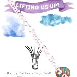 *Father's Day Finger Paint Balloons Card SAMPLE