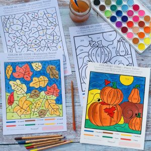COLOR BY CODE_ Autumn_Kids_Activity MFTH