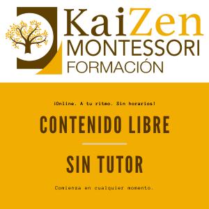 Contenido libre. Curso Montessori