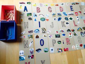 Montessori písmená