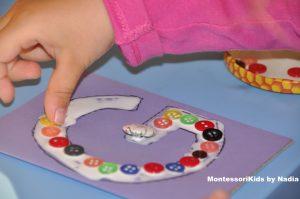 DIY Montessori šmirgľová abeceda
