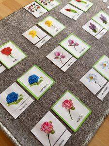 Trojzložkové karty kvety