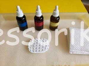 Montessori miešanie farieb