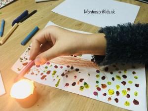 Jesenné tvorenie s pastelkami a ohňom