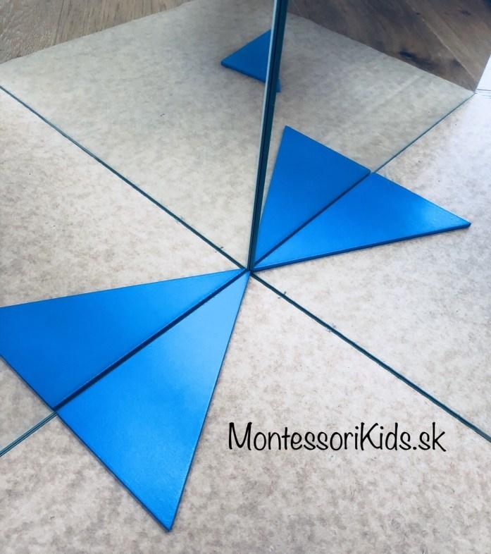 Montessori modré trojuholníky