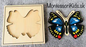 Motýľ puzzle