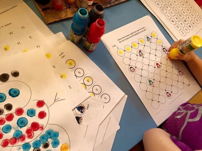 Špongiové farby, tvorenie s deťmi