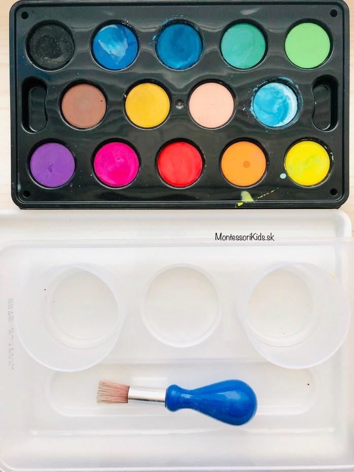Vodové farby, tvorenie s deťmi