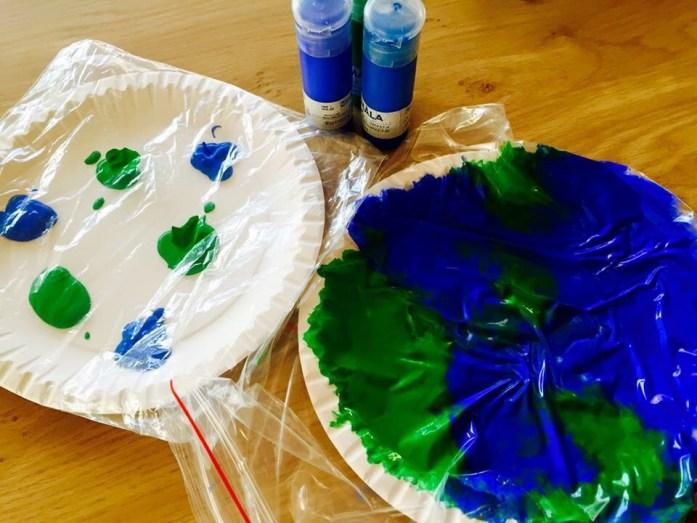 Maľovanie v sáčku, tvorenie s najmenšími