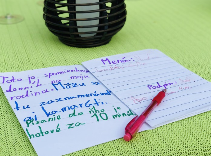 Spomienkový denník, škola v prírode