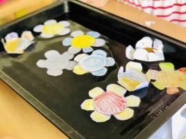 Papierové kvety, pokusy s vodou