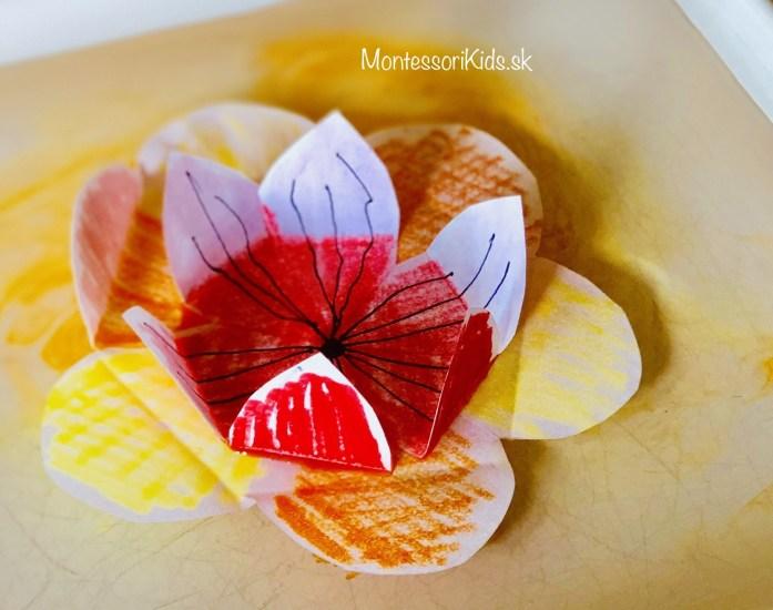 Kirigami papierové kvety