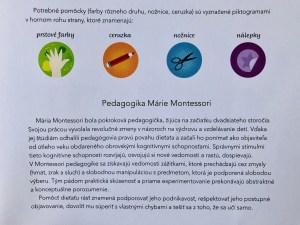 Montessori nálepkový zošit