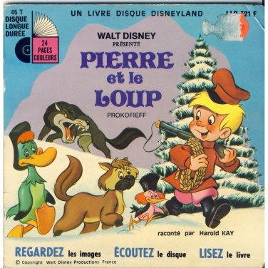 livre-disque-45-tours-pierre-et-le-loup-walt-disney