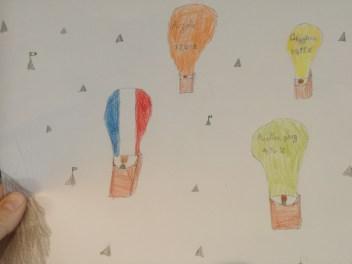 Composition de l'air, montgolfières
