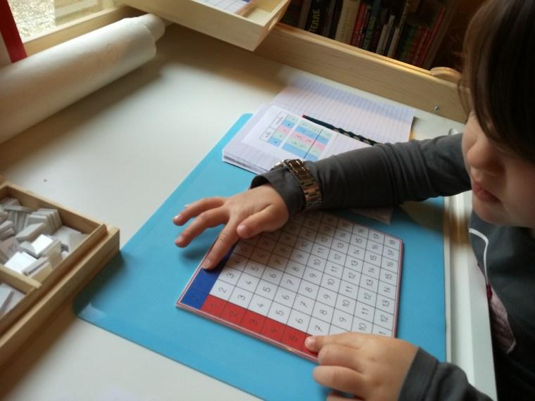 Addition table à doigts renseignée