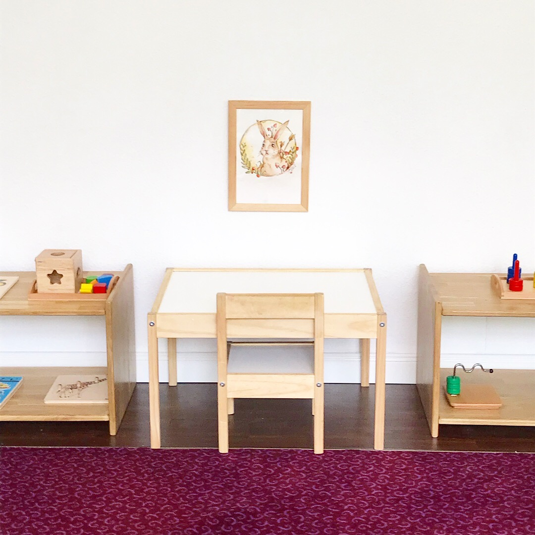 montessori toddler work table