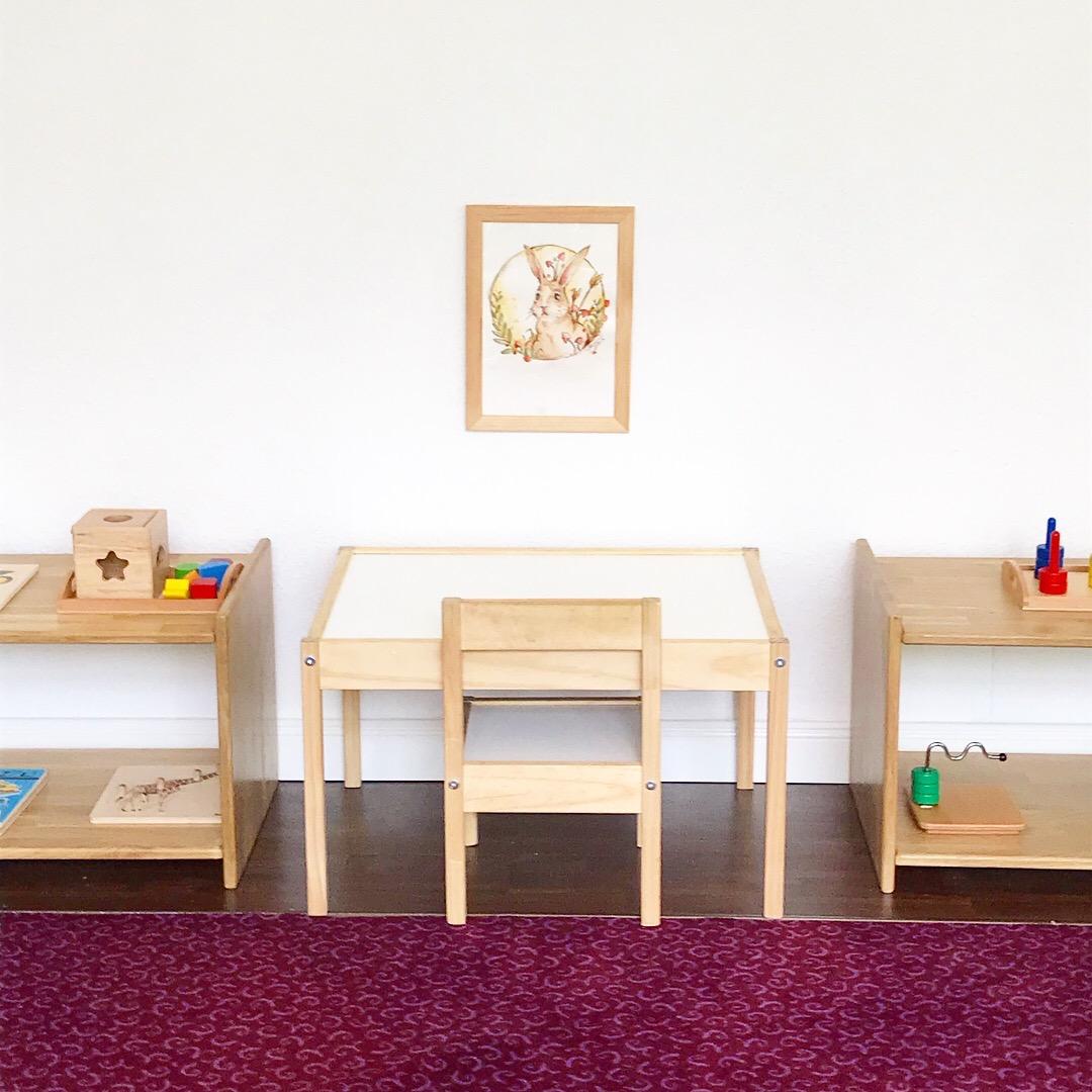 montessori toddler work table