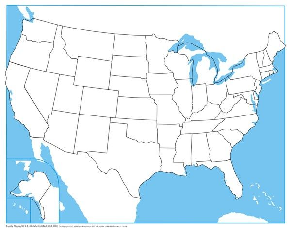 Print this map in a standard 8.x11 landscape format. Usa Control Map Unlabeled