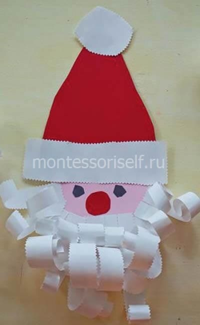 Paper Applique Santa Claus.
