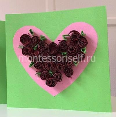 Cartão de aniversário com rosas