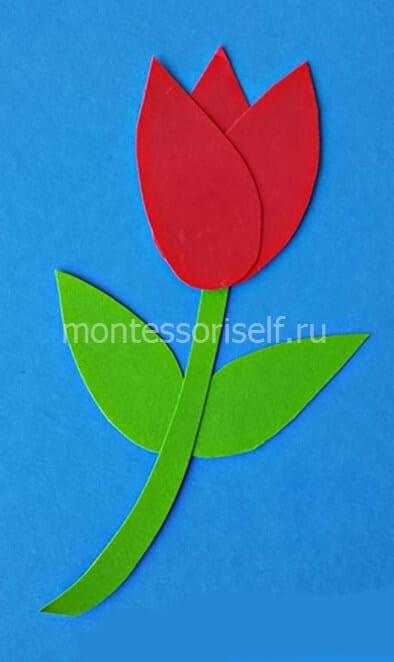Tulipa Applique para a mãe