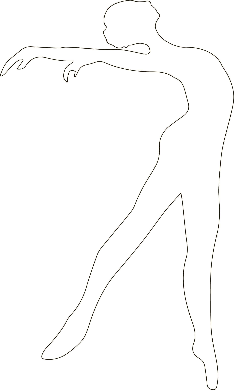 Stensil untuk memotong Ballerina 3