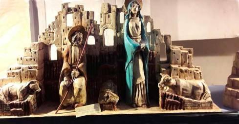 """Uno dei magnifici presepi dell'artista locale Romano Dini, autore della mostra """"Quella notte a Betlemme"""""""