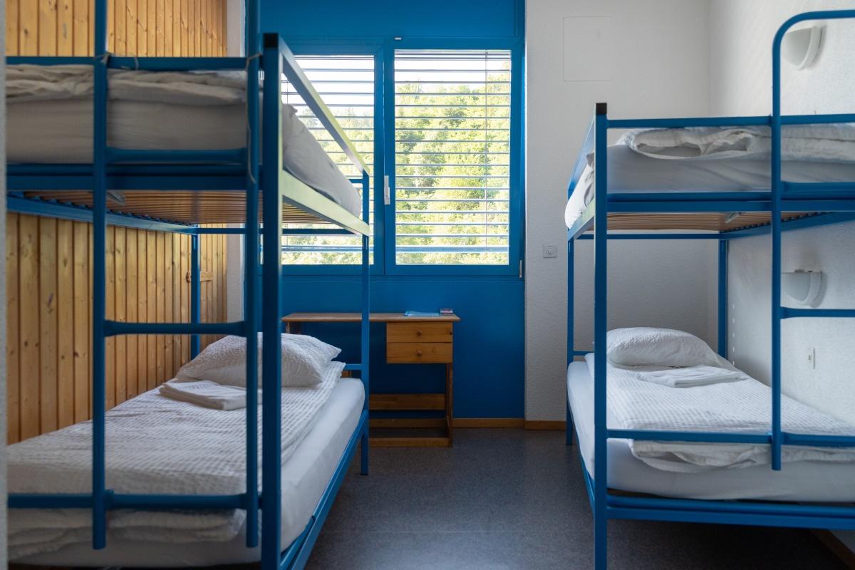 Quadruple room at Mont-Fort Swiss Lodge