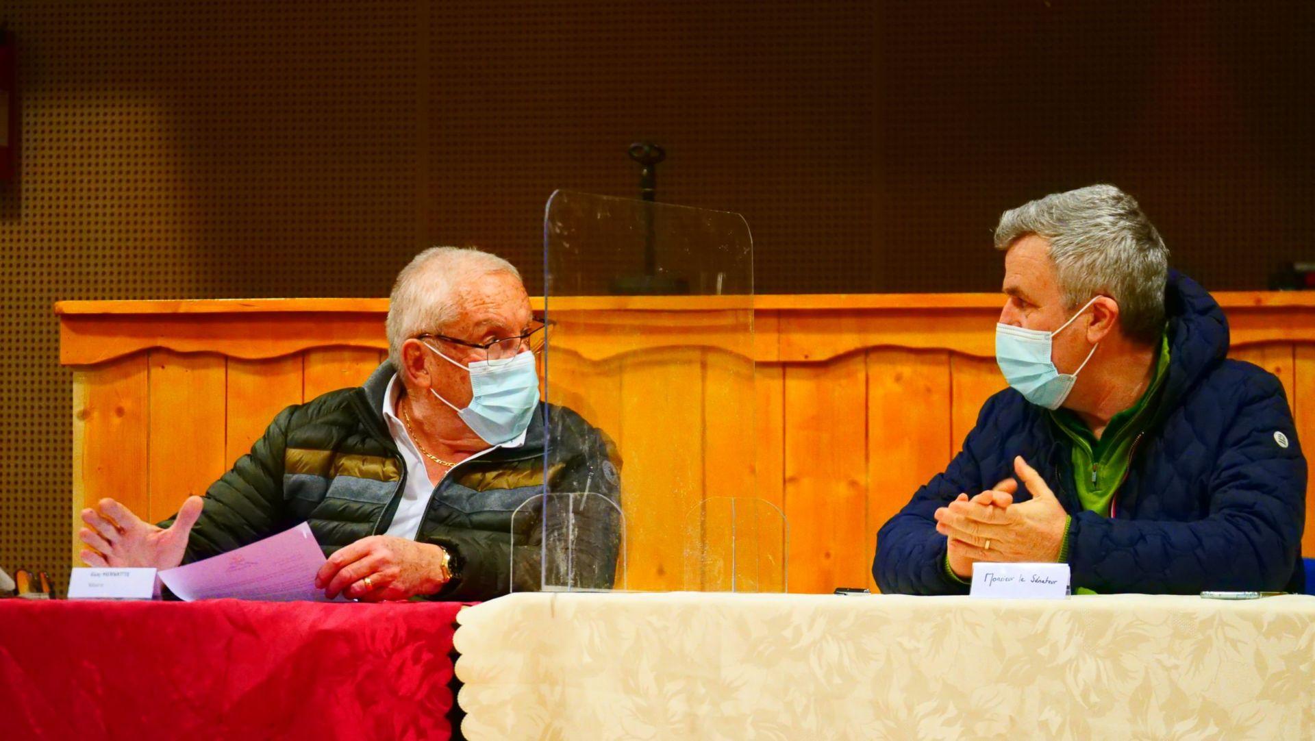 Le Sénateur des Hautes-Alpes, M. Jean-Michel ARNAUD, en visite des Stations à Montgenèvre