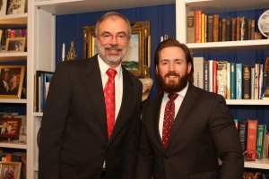 Evan Young MCGOP Club's Person of the Month with Rep. Andy Harris, MD-1
