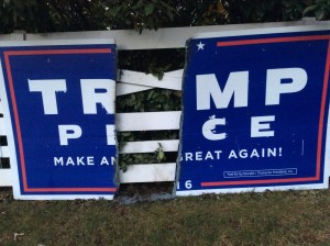 Burned 4 x 8 Trump Pence Sign