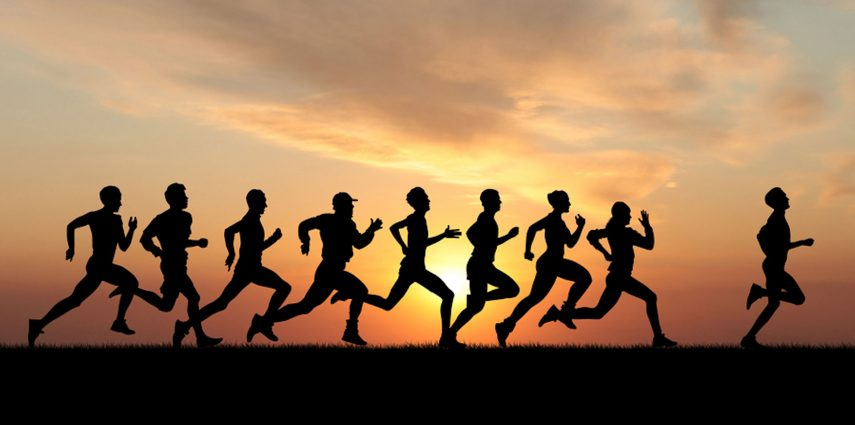 Runner running