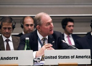 """James S. """"Jim"""" Gilmore III served as U.S. ambassador to the Organization for Security and Cooperation in Europe in Vienna, Austria, from 2019 until earlier this year. He served as governor of Virginia from 1998 to 2002"""