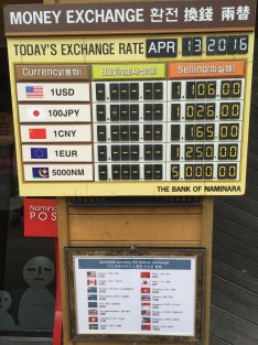 """""""Exchange rates"""" for other currency"""